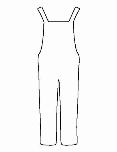 Overalls Pattern Printable Template Stencils Outline Coloring