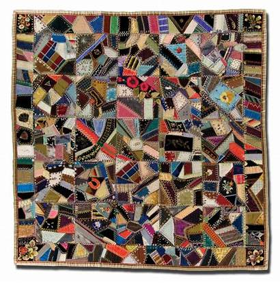 Crazy Quilt Patchwork Quiltstudy Circa 1900