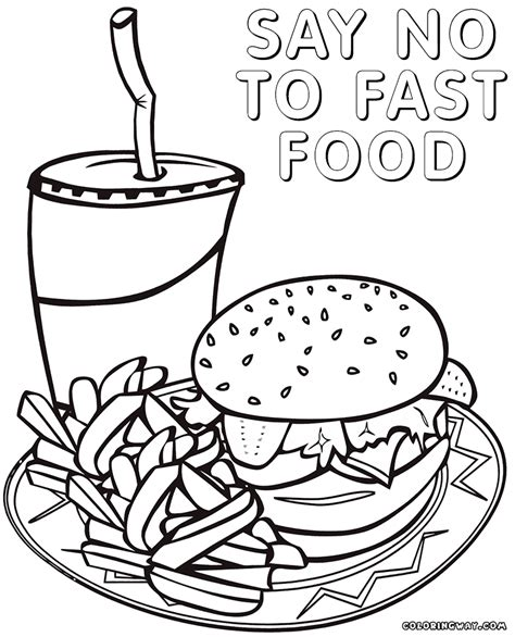 cuisine color fast food coloring pages coloring pages to and