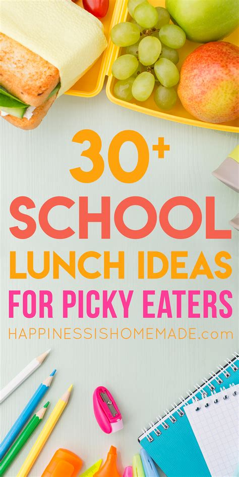 30 school lunch ideas for picky eaters happiness is 174 | 30 School Lunch Ideas for Picky Eaters