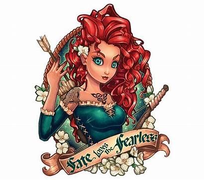 Disney Shumate Tattoo Princesse Tim Princesses Illustration