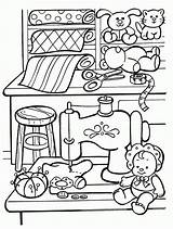 Coloring Toy Toys Pages Colouring Workshop Christmas Template sketch template