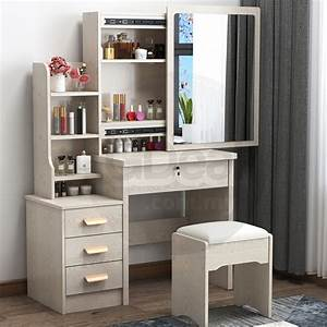 Gte, Modern, Vanity, Dressing, Table, Bedroom, Makeup, Table, Economical, Storage, Cabinet, Integrated