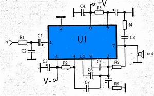 Wiring Diagram For Car  50w Audio Amplifier With Ics