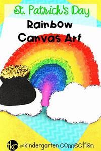 Rainbow Canvas St. Patrick's Day Art