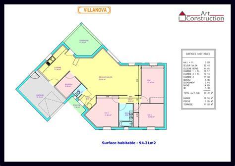 Plan Maison 2 Chambres - plan maison plain pied 2 chambres avec garage