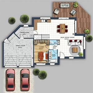 Maison Design Contemporain Double Garage S U00e9n U00e9