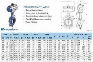 Dn150 Pneumatic Actuator Wafer Butterfly Valve