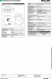 Balluff Bfidm01 Rfid Reader User Manual