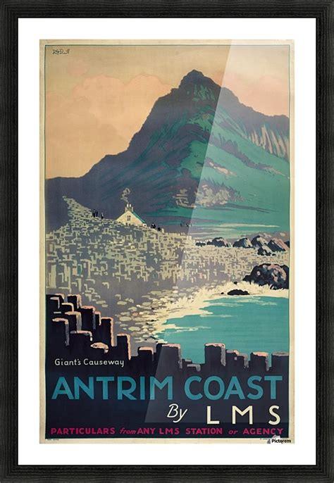 giants causeway antrim coast northern ireland vintage