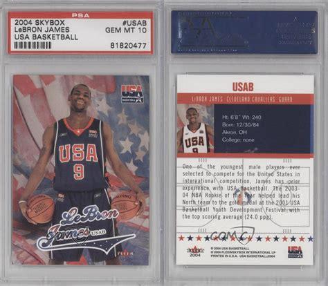2004 Fleer Usa Basketball Leja Lebron James Psa 10 Team