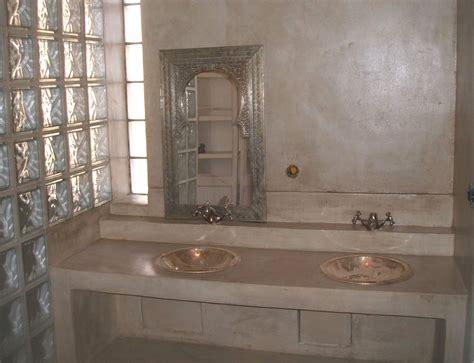 salle de bain salle de bain beton cire beige