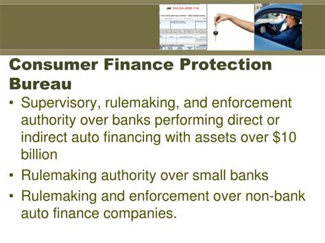 customer protection bureau ppt dealer participation and fair lending powerpoint