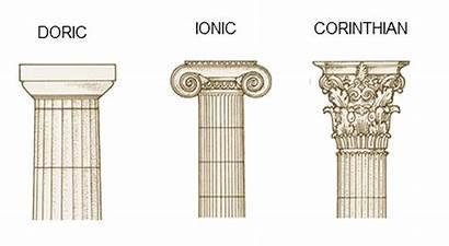 Columns Doric Ionic Corinthian Architecture Greek Roman