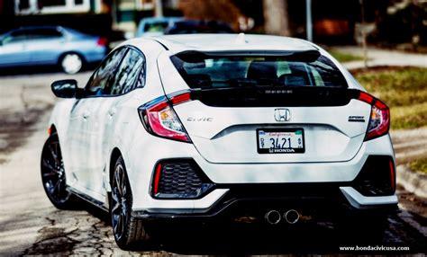 2019 Honda Civic Hatchback Sport Touring Redesign Honda