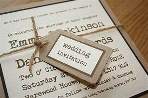Choosing your wedding invitations and stationery fennes for Brown paper wedding invitations uk