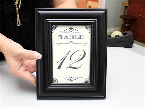 minute diy wedding table numbers