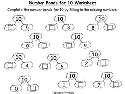 number bonds the story of 10 powerpoint presentation