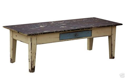 Coffee Farm Table Farmhouse Primitive Painted Country