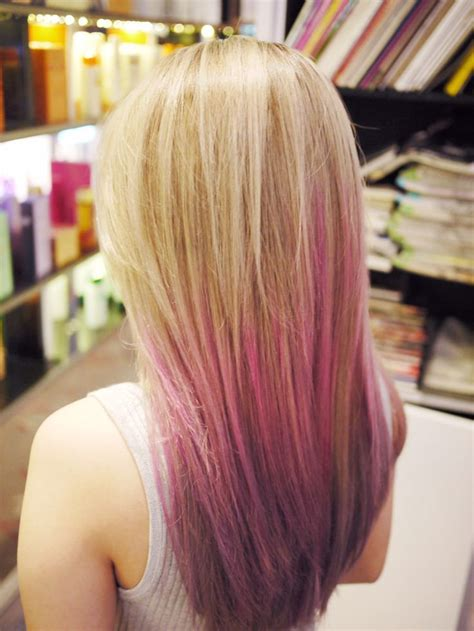 Ombré Blonde Pink Purple Hair Hair Pinterest Pink