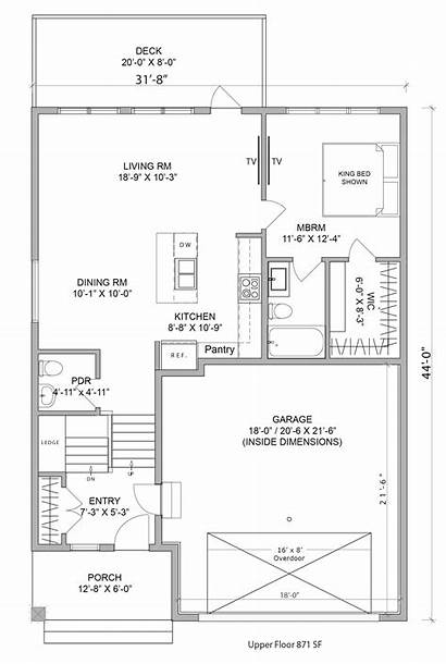 Floor Plan Plans Bilevel Upper