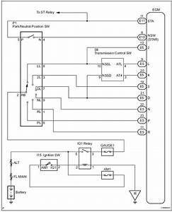 Toyota Sienna Service Manual  Transmission Range Sensor Circuit Malfunction  Prndl Input