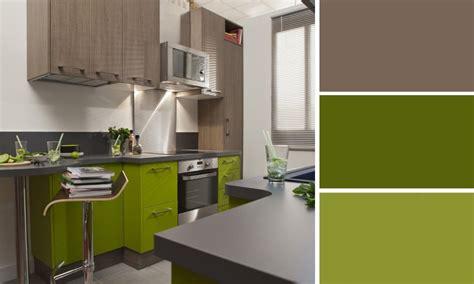 cuisine gris et vert déco cuisine vert anis et gris déco sphair