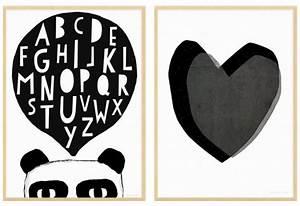 Des affiches enfant en noir et blanc Joli Place