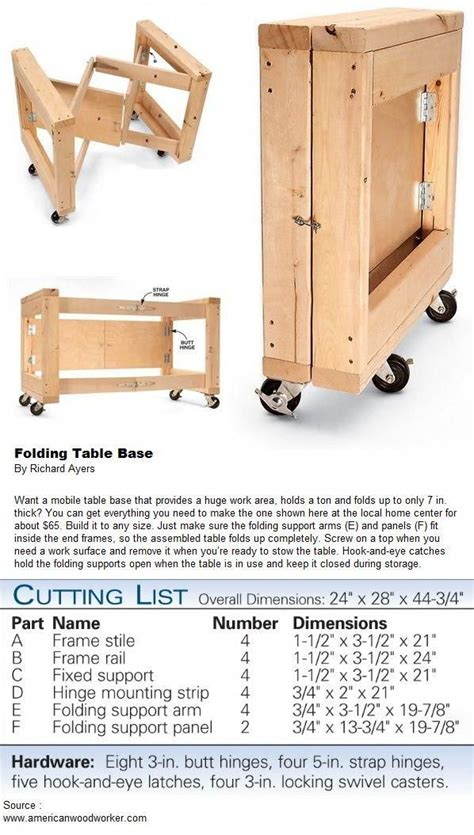 folding table base murphybedideasqueens woodworking