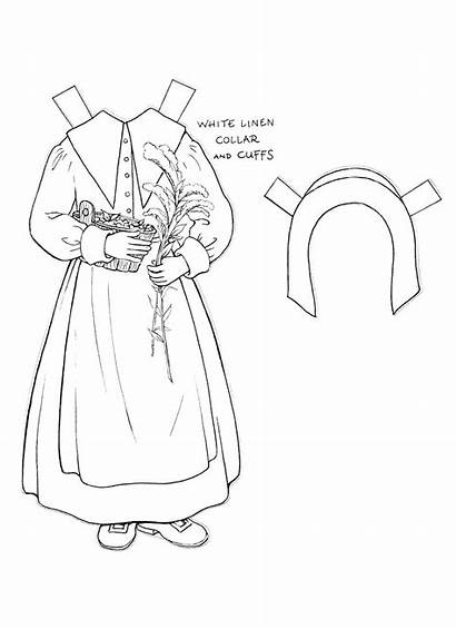 Paper Doll Dolls Punch Kim Coloring Pages