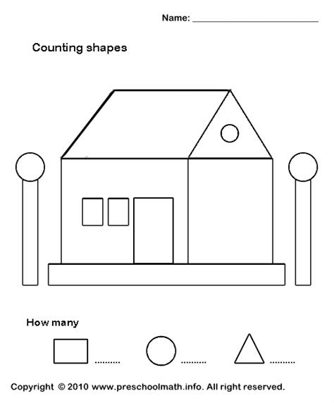 shape worksheets pre k hooray worksheets