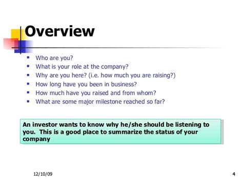 Business Overview Template
