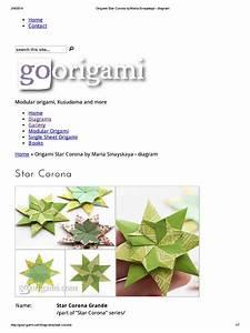 Origami Star Corona By Maria Sinayskaya