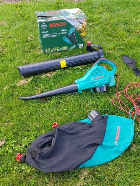 bosch als 30 3000w corded leaf blower used once in bromyard herefordshire gumtree