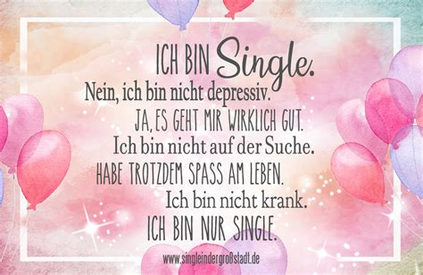 spruch ich bin single