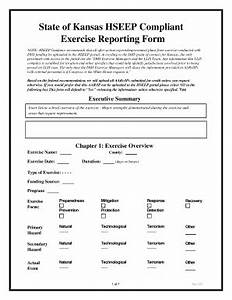 hseep exercise reporting form fill online printable With hseep templates