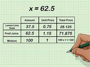How To Solve Mixture Word Problems  With Pictures