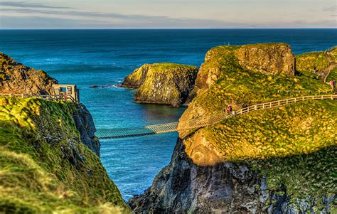 image united kingdom ballintoy northern ireland sea crag