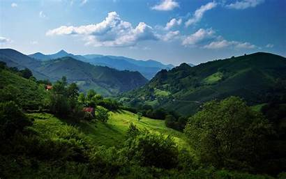 Spain Cantabrian Range Mountains Hills Scenery Hill