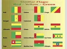 National Flags With Green Red Yellow