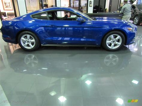 2017 Ford Mustang V6 Specs by 2017 Lightning Blue Ford Mustang V6 Coupe 117434778 Photo
