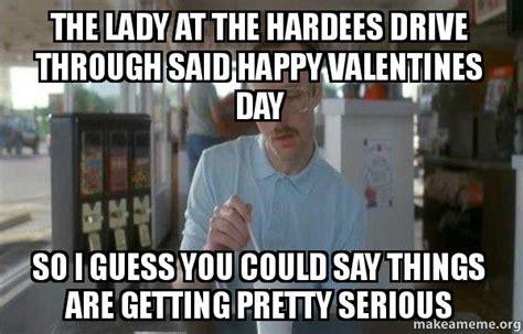lady   hardees drive   happy