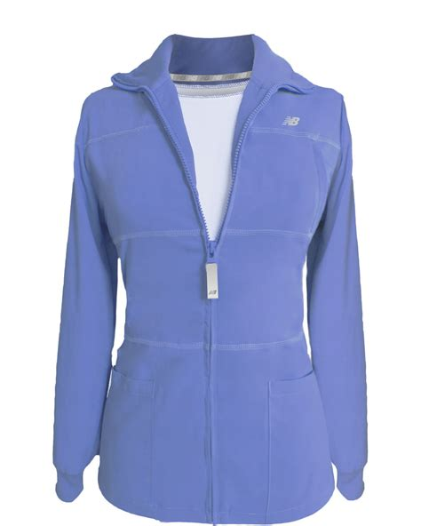 Ceil Blue Fleece Scrub Jacket by Silver Jackets Jackets