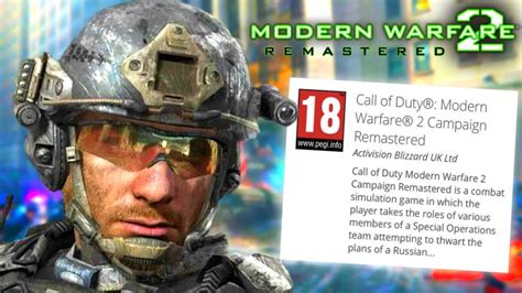 mw remastered officially listedthen removed youtube