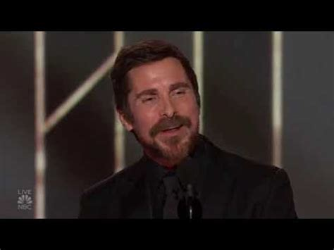 Christian Bale Thanking Satan Golden Globe Speech