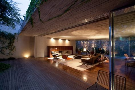 Open Layout House Concept By Studio MK27 : Chimney House By Marcio Kogan