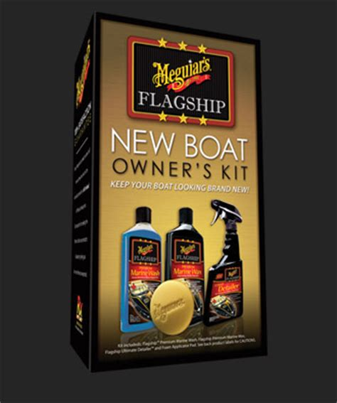 Meguiars Boat Wax Kit by Meguiar S Flagship Marine New Boat Owner Kit