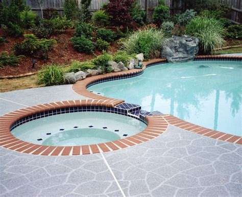 resurface pool deck with tile pool deck concrete resurfacing