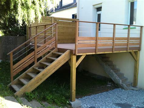 terrasse suspendue en bois dootdadoo com id 233 es de