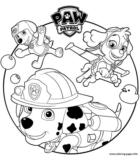paw patrol cartoon coloring pages printable